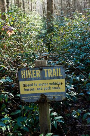 Poundingmill Hiker Trail Sign
