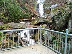 Observation Deck at Toms Creek Falls