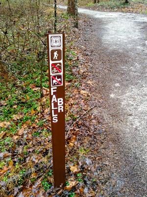 Falls Branch Trail Sign