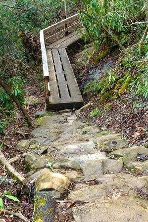 Steps and Bridge on the High Falls Trail