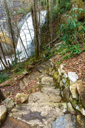 Rock Steps and Wall Near High Falls