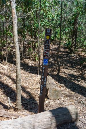 Sign at the Top of the Pilot Cove Loop Trail