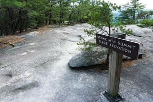 Stone Mountain Summit Sign