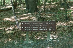 Stone Mountain Loop Trail Sign