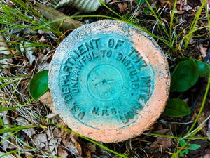 Survey Marker on Snowball Mountain
