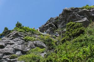 Climbing MacRae Peak