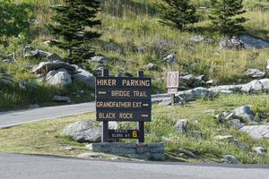 Hiker Parking Sign