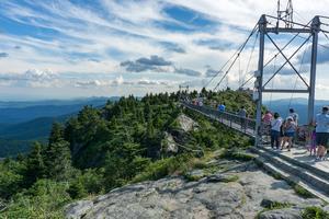 Swinging Bridge and Linville Peak