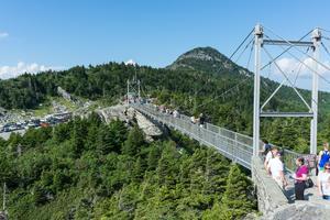 Swinging Bridge and MacRae Peak