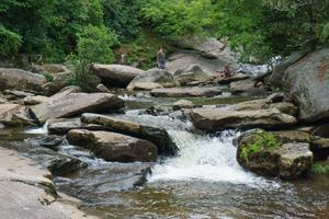 Cascades above Upper Creek Falls