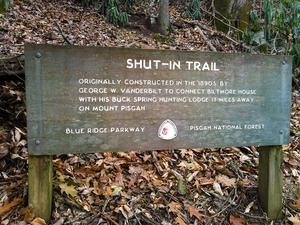 Shut-In Trail Sign