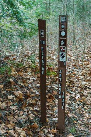 Estatoe and Art Loeb Trail Sign