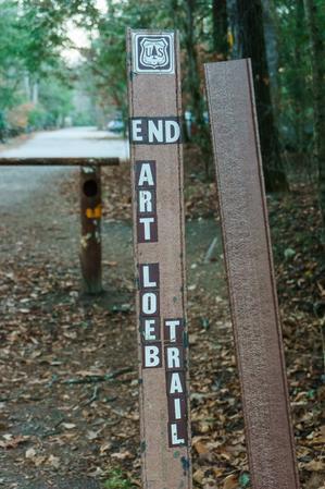 Art Loeb Trail End Sign