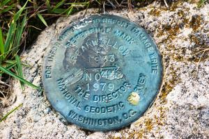Summit Marker on Bearwallow Mountain