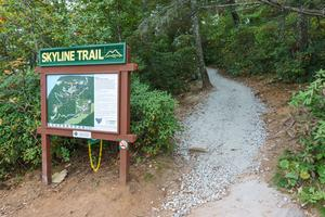 Sign at the Start of the Skyline Trail