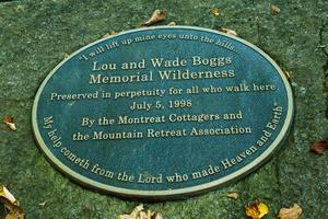 Boggs Memorial Wilderness Sign