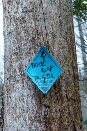 Blaze at the Top of the Buck Gap Trail