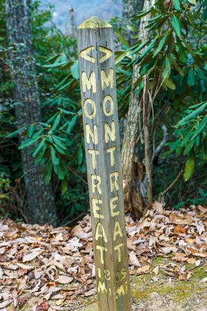 Montreat Trail Post in Rainbow Gap