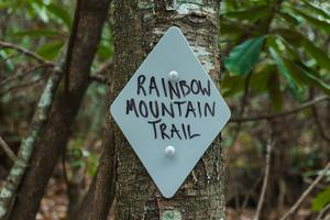 Rainbow Mountain Trail Sign