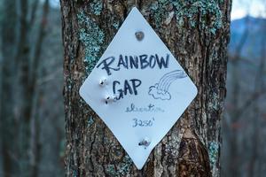 Rainbow Gap Sign