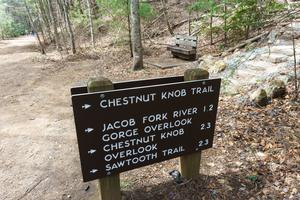 Start of the Chestnut Knob Trail