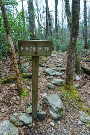 Sign at the Bottom of the Pinch-In Trail