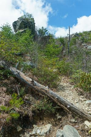 View Up to the Big Rock Outcrop on the Pinch-In Trail