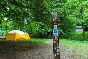 River Loop Trail in Briar Bottom Group Campground
