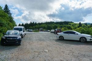 Overflow Parking at Black Balsam