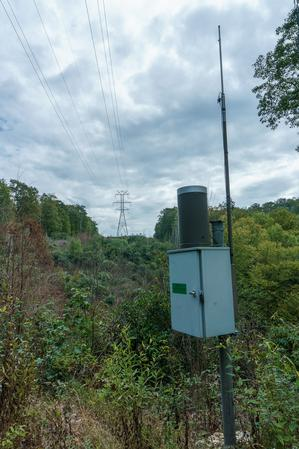 Weather Station along the Panthertown Valley Trail
