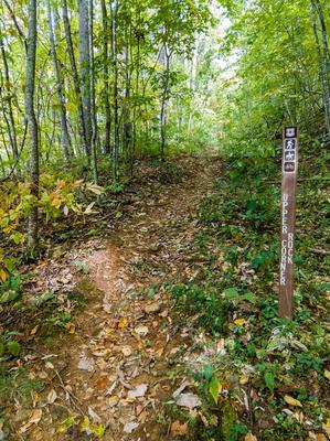 Upper Corner Rock Trail Sign