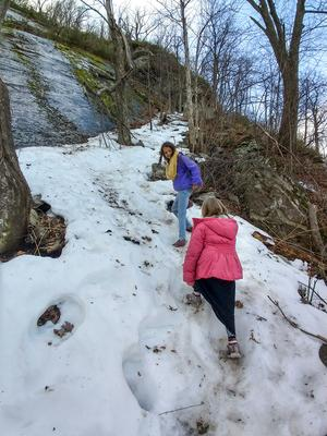 Kids Climbing Wildcat Rock Trail