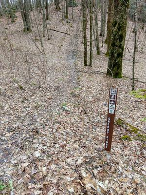 Sign for the Cherry Ridge Trail
