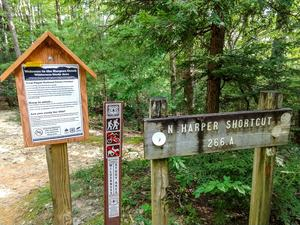 North Harper Shortcut Trail Sign