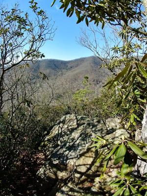 View of the West Ridge from Rainbow Mountain Trail