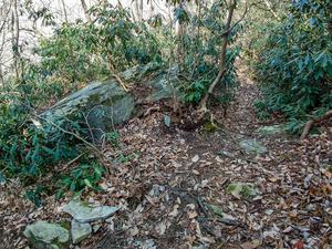 Rock Beside Rainbow Mountain Trail