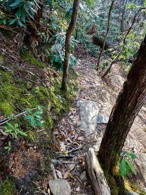 Steep Section of Rainbow Mountain Trail