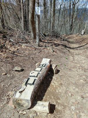 Club Gap Trail Marker