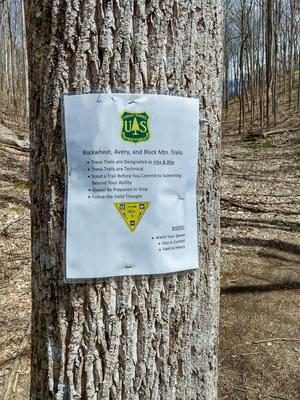 Improvised Sign on the Club Gap Trail