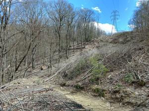 Club Gap trail Under Power Lines