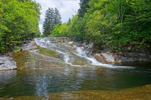 Cascade and Swimming Hole on Flat Laurel Creek