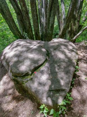 Heart Shaped Rock on the Flat Laurel Creek Trail
