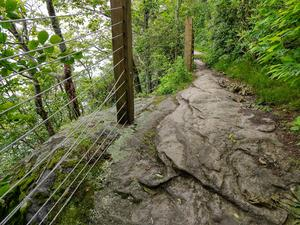 Cliffside Trail on Whiteside Mountain