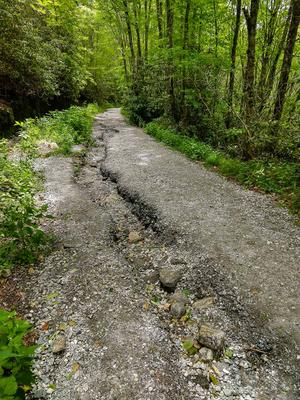 Severe Erosion on the Whiteside Mountain Trail