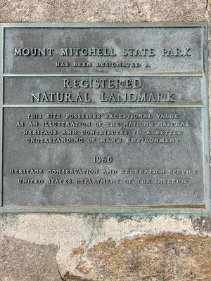 Mount Mitchell is a Registered National Natural Landmark
