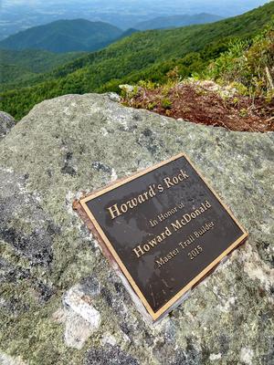 Howard's Rock on Big Firescald Knob