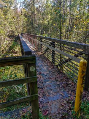 North Fork Catawba River Bridge on the Mountains to Sea Trail