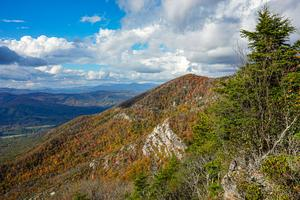 View of Dobson Knob from Bald Knob in Fall Color